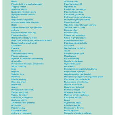 lista przyjemności